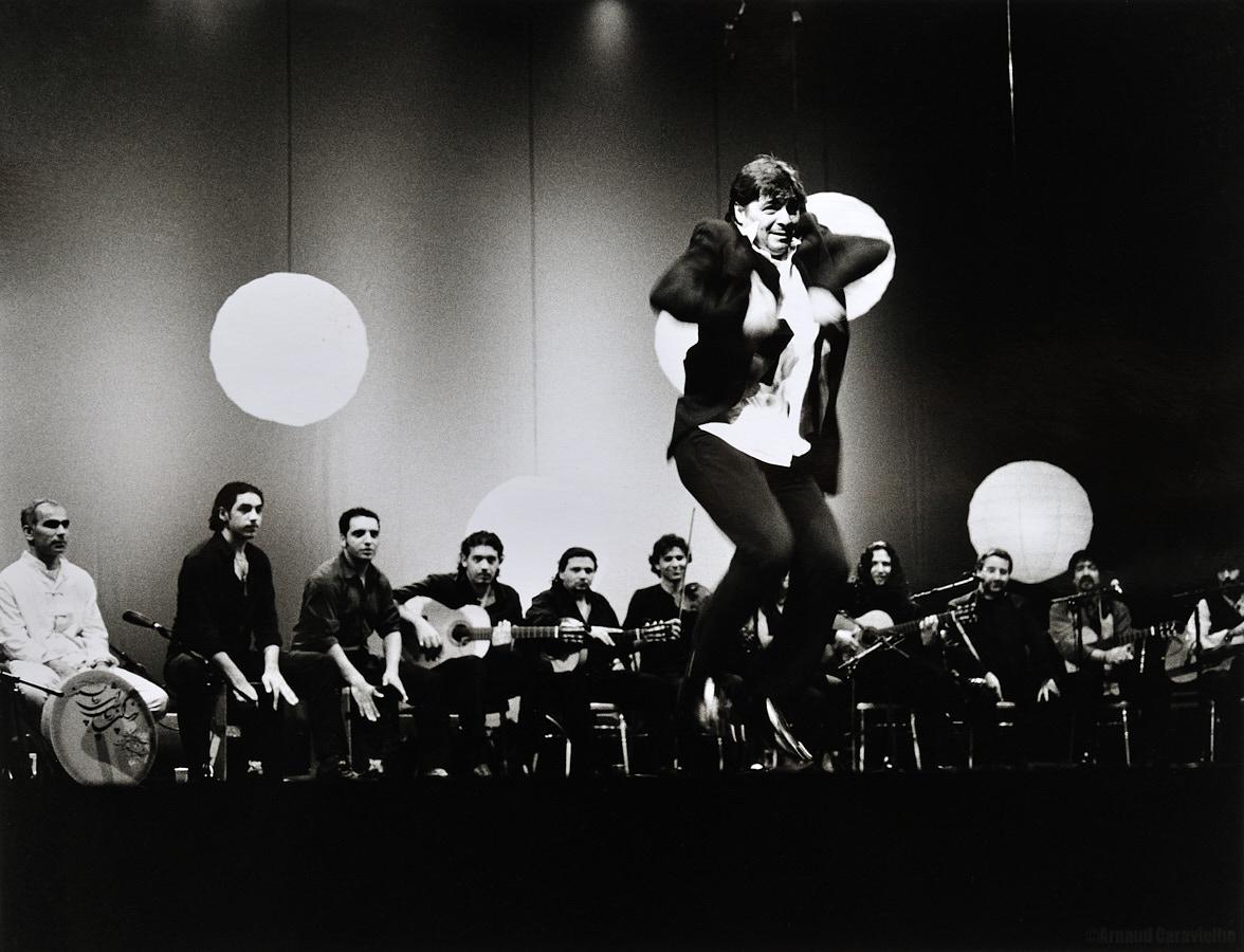 """Antonio Canales, Paris 2001 - Spectacle donné à l'Olympia lors de la sortie du film """"Vengo"""", de Toni Gatlif."""