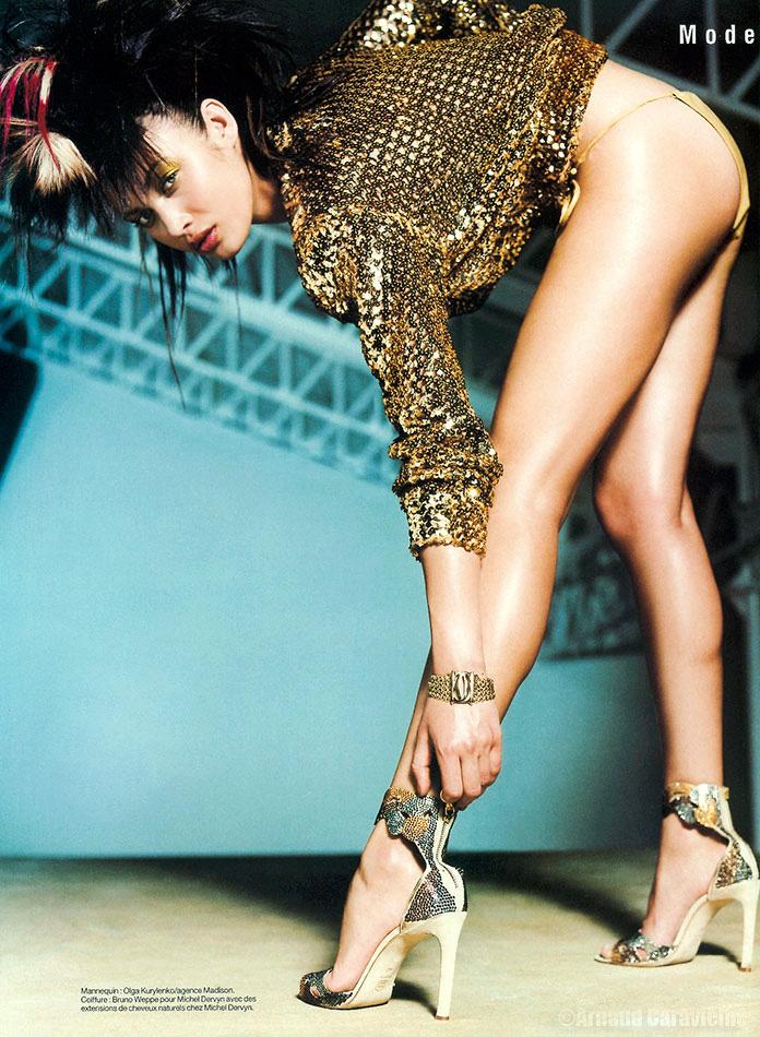 "Olga Kurylenko - ""Golden girl"", magazine FEMME"