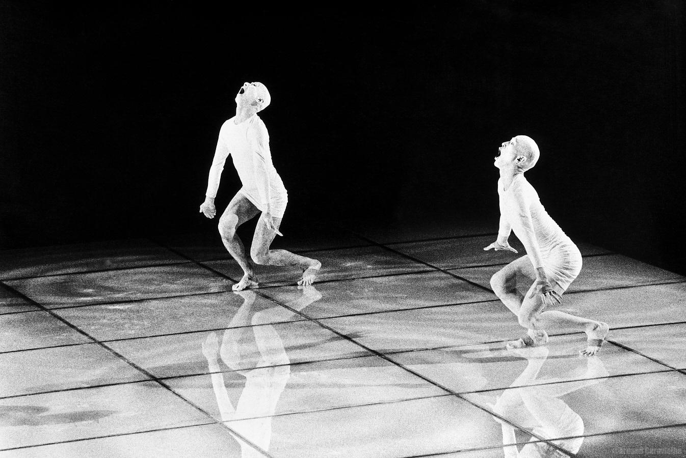 """Sankai Juku, """"Omote""""  - Festival Montpellier Danse 1992, Cour Jacques Cœur"""