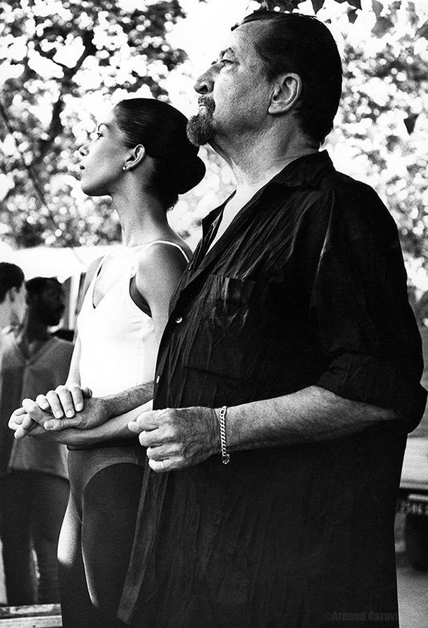 """""""Béjart et la danseuse"""" - Place de la Comédie, Festival Montpellier Danse 1994"""